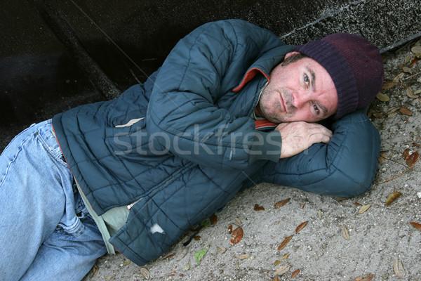 Hajléktalan férfi probléma bor férfiak szomorú Stock fotó © lisafx