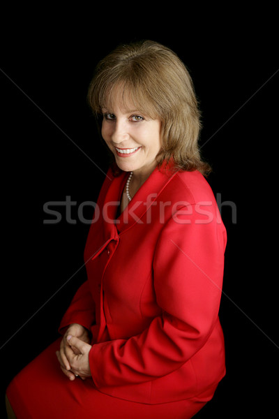 Lady In Red - Friendly Stock photo © lisafx