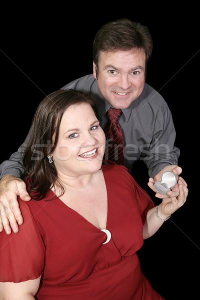 Newly Engaged Couple Stock photo © lisafx