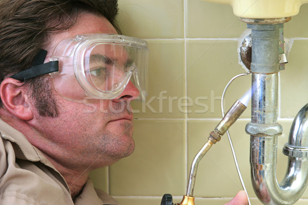 Plumber Welding  Stock photo © lisafx