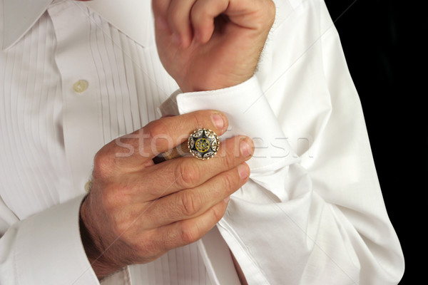 Putting On Cufflinks Stock photo © lisafx
