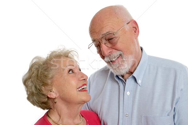 Starszy para żart szczęśliwy podział wraz Zdjęcia stock © lisafx