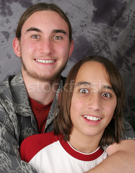 Teen Brothers - Amazed Stock photo © lisafx