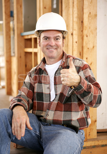 Thumbsup on Construction Site Stock photo © lisafx