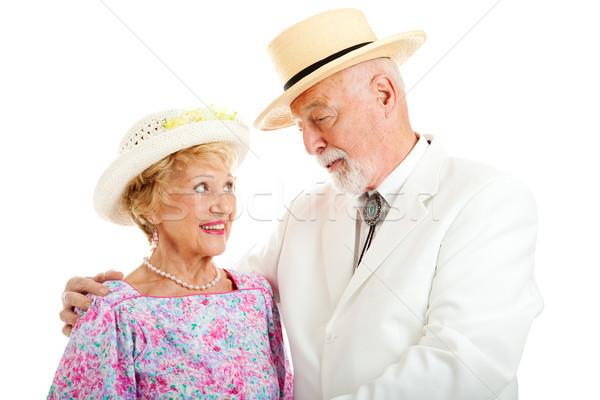 Casal de idosos bonito senior cavalheiro Foto stock © lisafx
