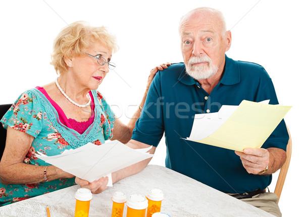 Couple de personnes âgées médicaux confondre accablé blanche Photo stock © lisafx