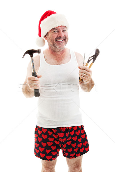 Ready For Christmas - Dad with Tools Stock photo © lisafx
