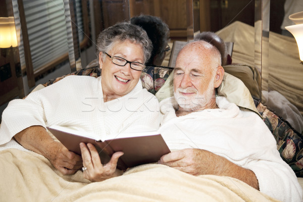 Reading Together at Bedtime Stock photo © lisafx