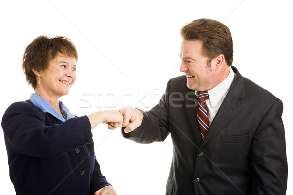 Business Partners Fist Bump Stock photo © lisafx