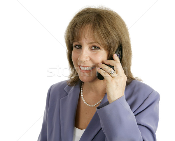 Businesswoman on Cellphone - Smiling Stock photo © lisafx