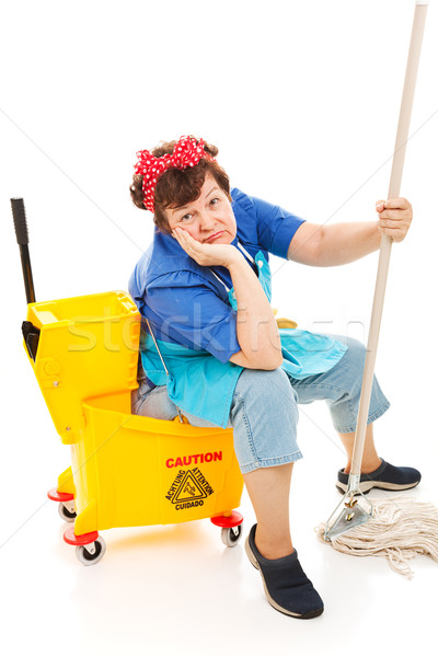 Cleaning Lady - Worn Out Stock photo © lisafx