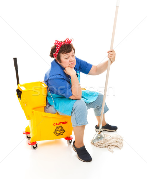 Depressed Housekeeper Stock photo © lisafx