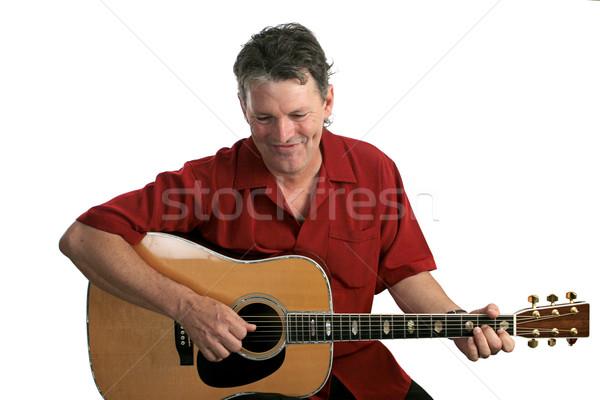 énekes jóképű nevet gitár férfiak koncert Stock fotó © lisafx
