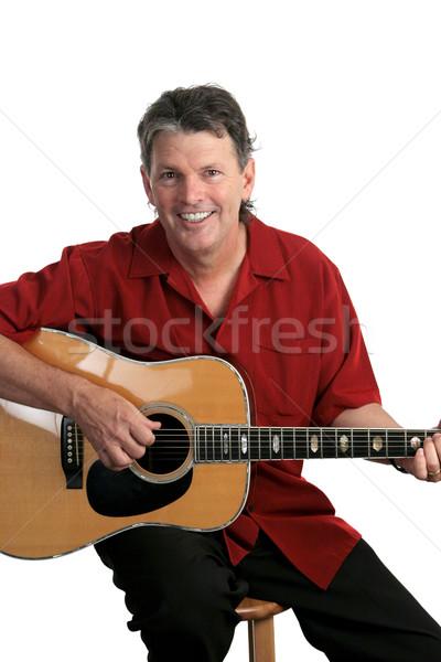 Smiling Musician Stock photo © lisafx
