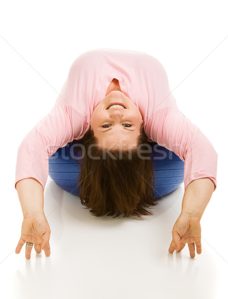 Upside Down on Pilates Ball Stock photo © lisafx