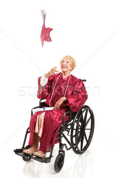 Disabled Graduate Tosses Cap Stock photo © lisafx