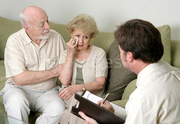 Tranen verdriet huwelijk vrouw huilen Stockfoto © lisafx