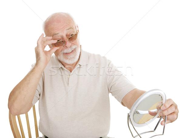 Zdjęcia stock: Optyczny · nowego · starszy · człowiek · na · zewnątrz · recepta
