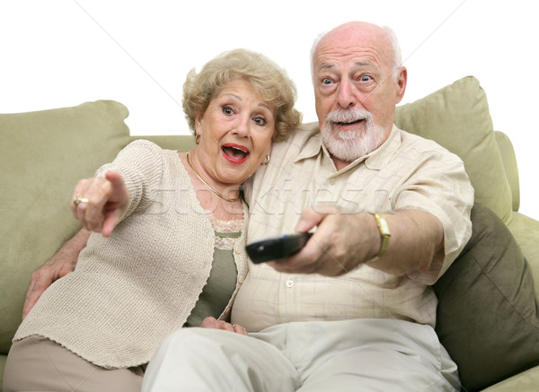 Seniors Entertained by TV Stock photo © lisafx