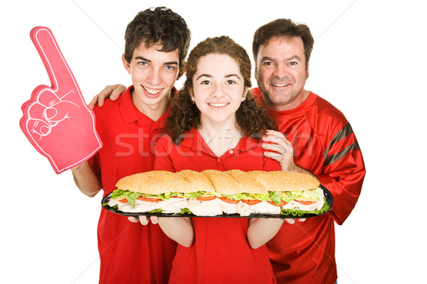 Sport sandwich fans klaar beneden reus Stockfoto © lisafx