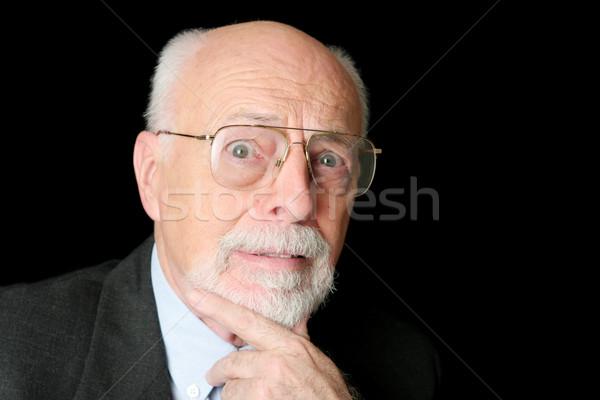 Stock Photo of Worried Senior Man Stock photo © lisafx