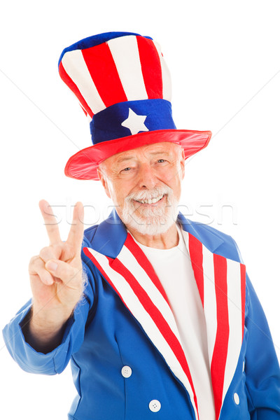 Uncle Sam - Peace Sign Stock photo © lisafx