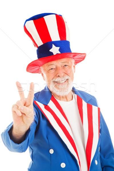 Tío paz signo americano icono aislado Foto stock © lisafx