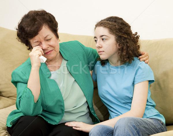 Teen Comforts Mother Stock photo © lisafx