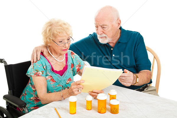 Senior Couple - Medical Bills Stock photo © lisafx