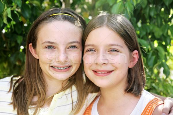 Voor altijd portret twee mooie school Stockfoto © lisafx