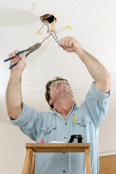 Electrician At Work Stock photo © lisafx