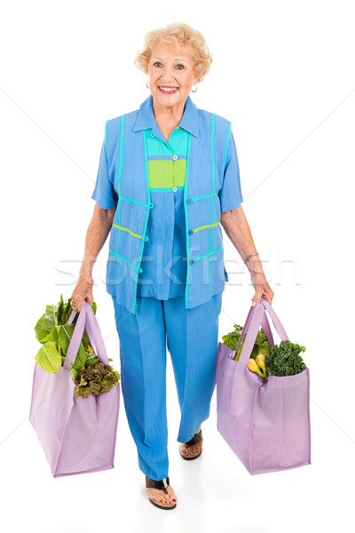 Environmentally Aware Senior Shopper Stock photo © lisafx
