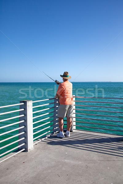 Solitary Fisherman Stock photo © lisafx