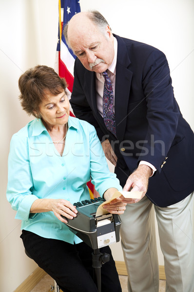 Stenographer and Attorney Stock photo © lisafx