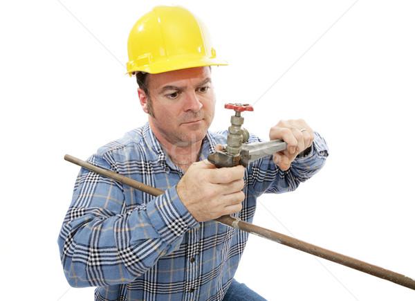 Construction Plumber Working Stock photo © lisafx