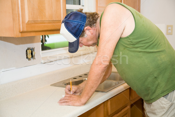 Zdjęcia stock: Kuchnia · budynku · narzędzia · pracownika