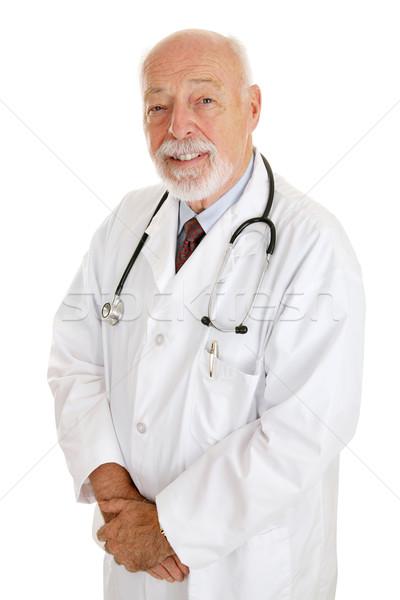 Lekarza doświadczony godny zaufania portret dojrzały odizolowany Zdjęcia stock © lisafx