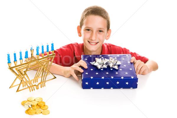 Happy Boy on Hanukkah Stock photo © lisafx