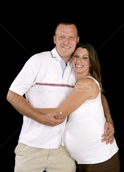 Heureux enceinte parents souriant enceintes couple Photo stock © lisafx