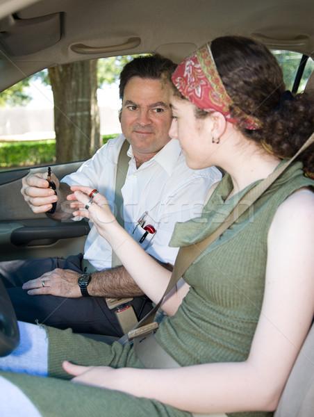 Teen Driving Test Begins Stock photo © lisafx