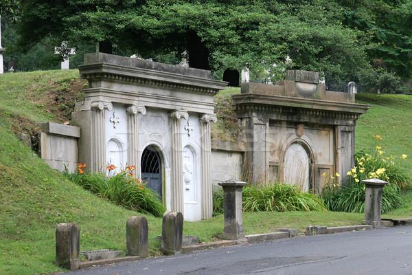 Due bella lato cimitero fiori cross Foto d'archivio © lisafx
