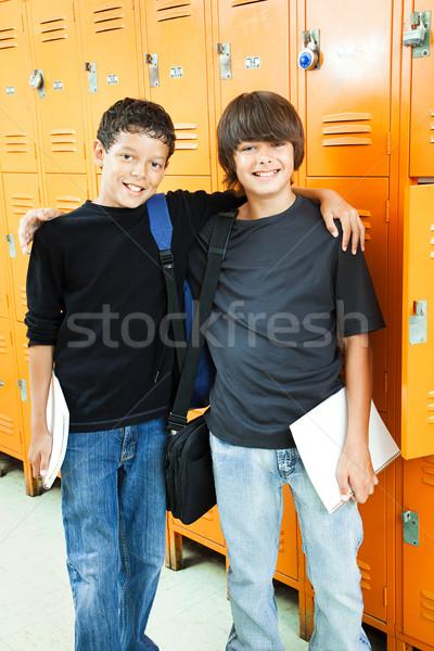 School Boys - Best Friends Stock photo © lisafx