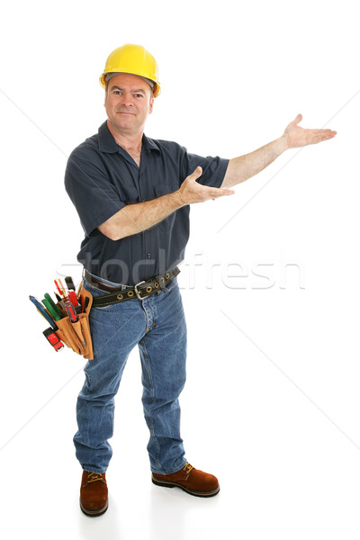 Construction Worker Presents Stock photo © lisafx