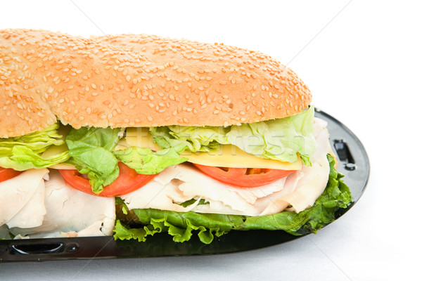 Giant Sub Sandwich Closeup Stock photo © lisafx