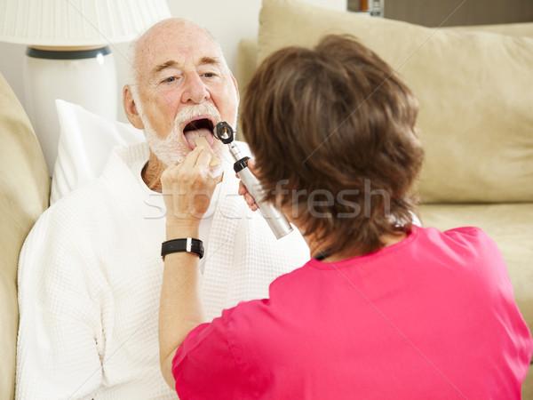 Otthon egészség nővér egészségügy külső nő Stock fotó © lisafx