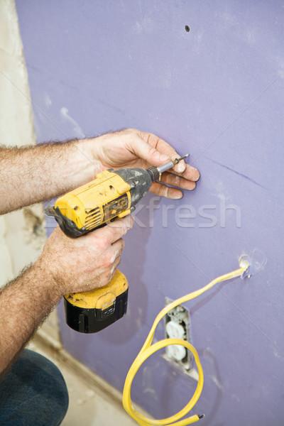 Installing Drywall Screws Stock photo © lisafx