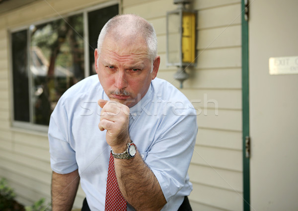 Stock photo: Mature Man - Chest Cold