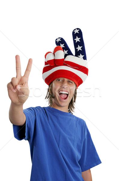 Patriotic Teen - Goofy Stock photo © lisafx