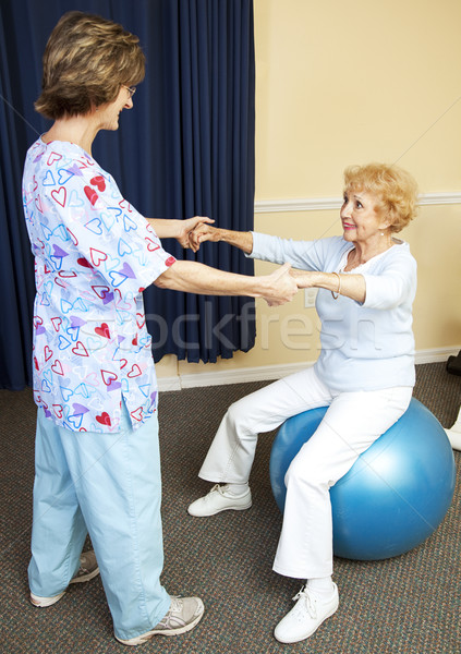 Physical Therapy Workout Stock photo © lisafx