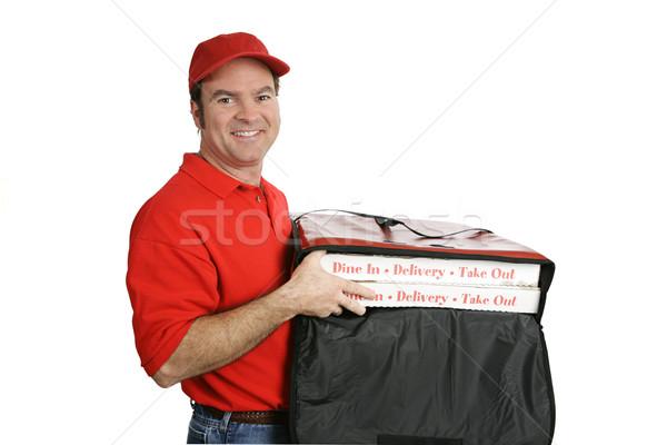 Pizza Delivered Hot & Fresh Stock photo © lisafx